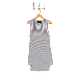 The Fifth Black and White Striped Dress M